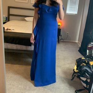 BCBG Blue Blacktie Maxi Dress